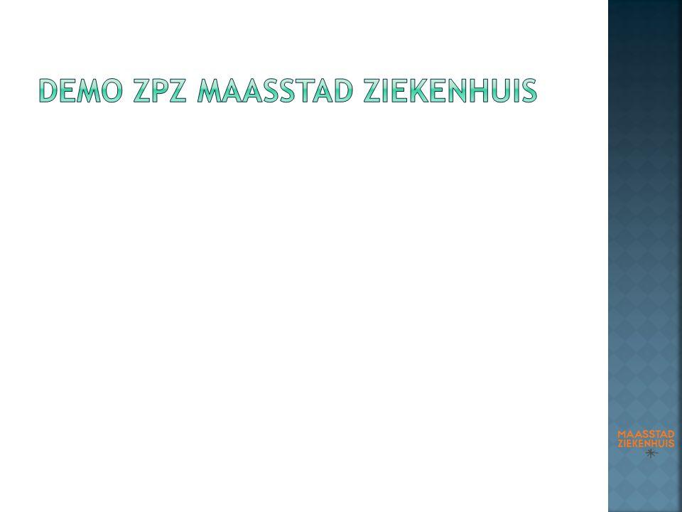 DEMO ZPZ Maasstad ziekEnhuis