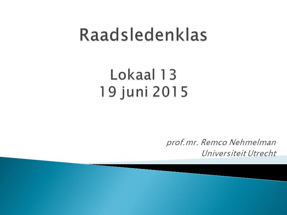 Raadsledenklas Lokaal 13 19 juni 2015