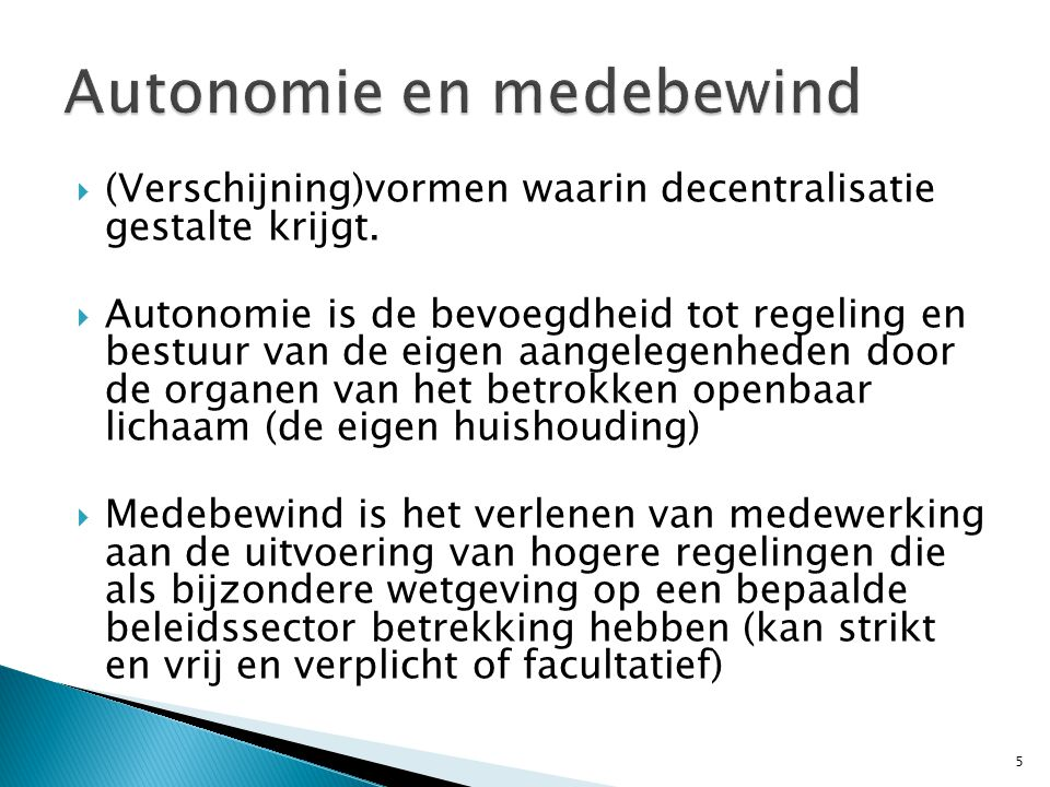 Autonomie en medebewind