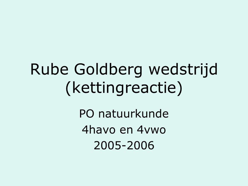 Rube Goldberg wedstrijd (kettingreactie)