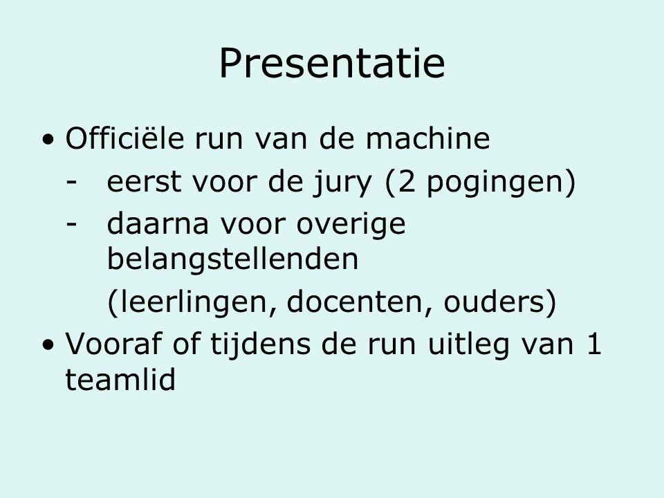 Presentatie Officiële run van de machine