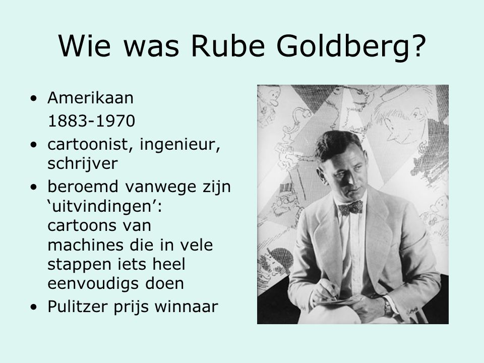 Wie was Rube Goldberg Amerikaan 1883-1970
