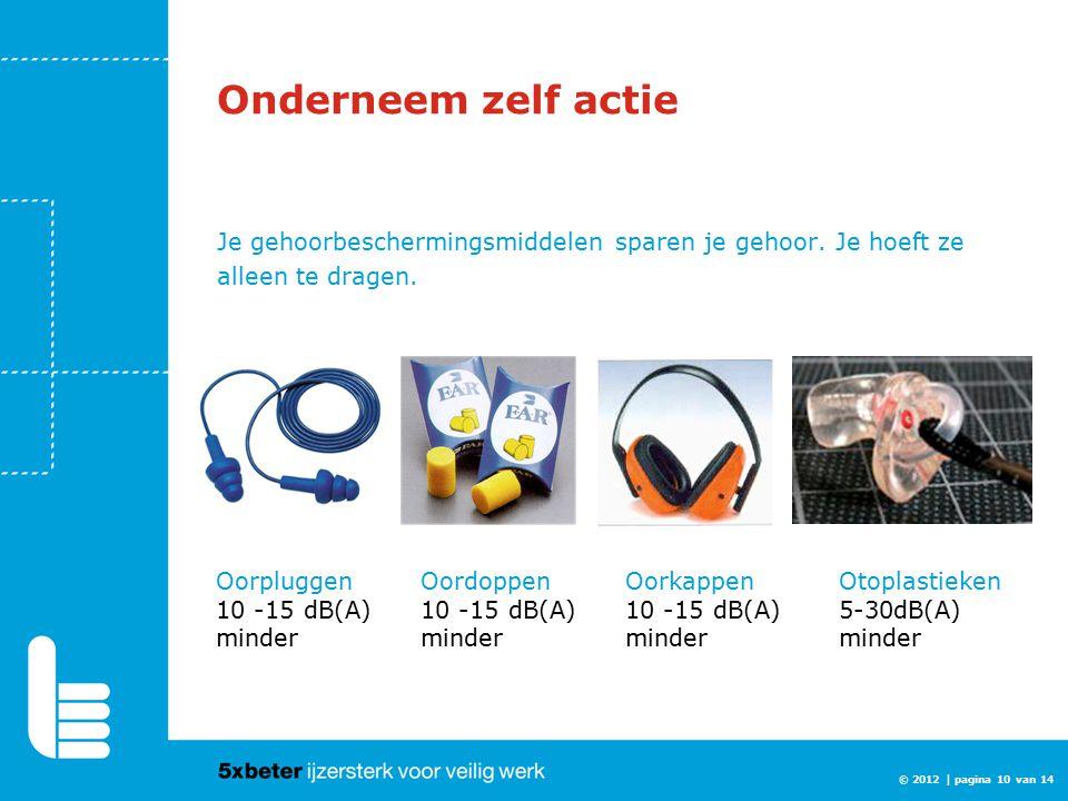 Onderneem zelf actie Je gehoorbeschermingsmiddelen sparen je gehoor. Je hoeft ze alleen te dragen.