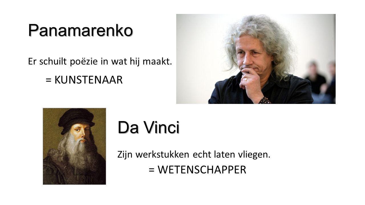 Panamarenko Da Vinci = KUNSTENAAR = WETENSCHAPPER
