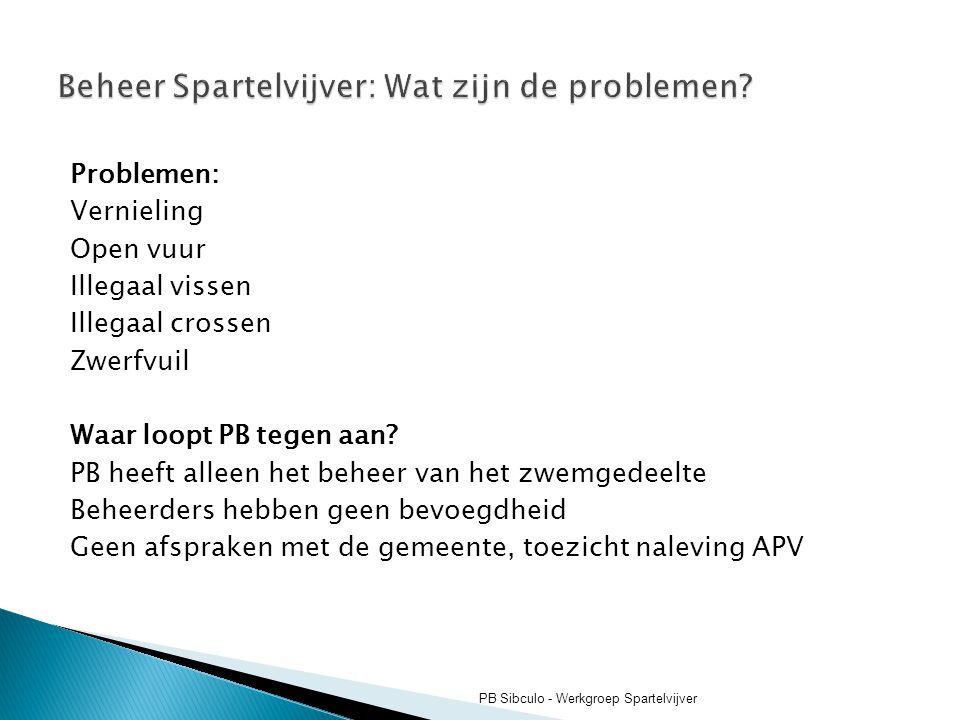 Beheer Spartelvijver: Wat zijn de problemen