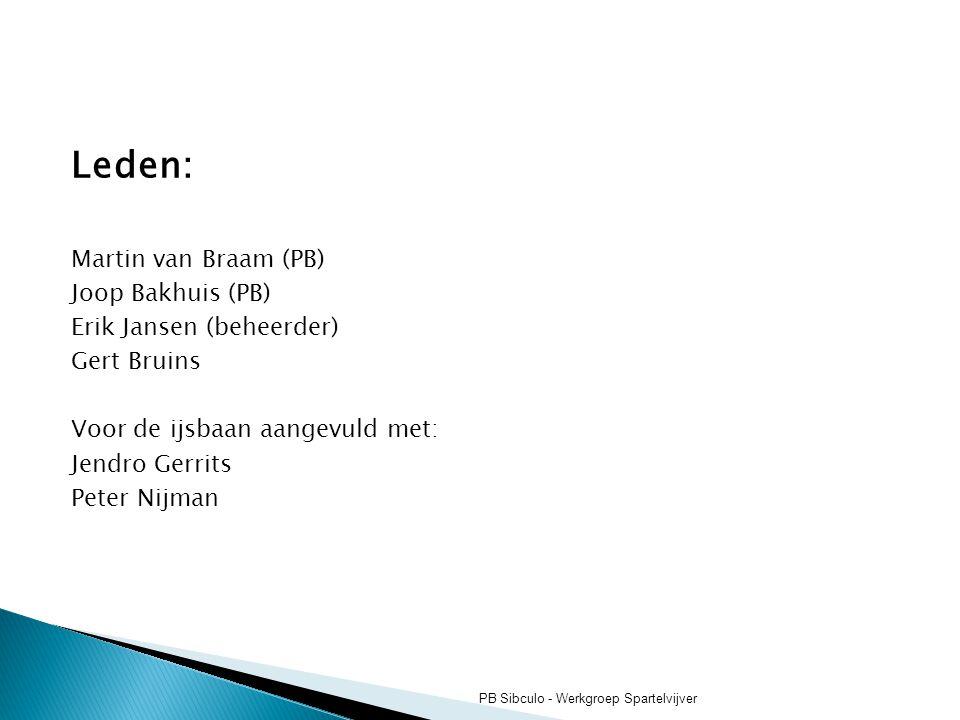 Leden: Martin van Braam (PB) Joop Bakhuis (PB) Erik Jansen (beheerder)