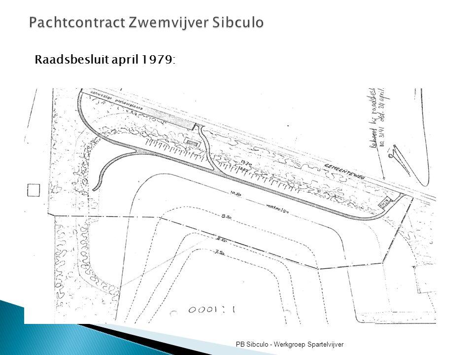 Pachtcontract Zwemvijver Sibculo