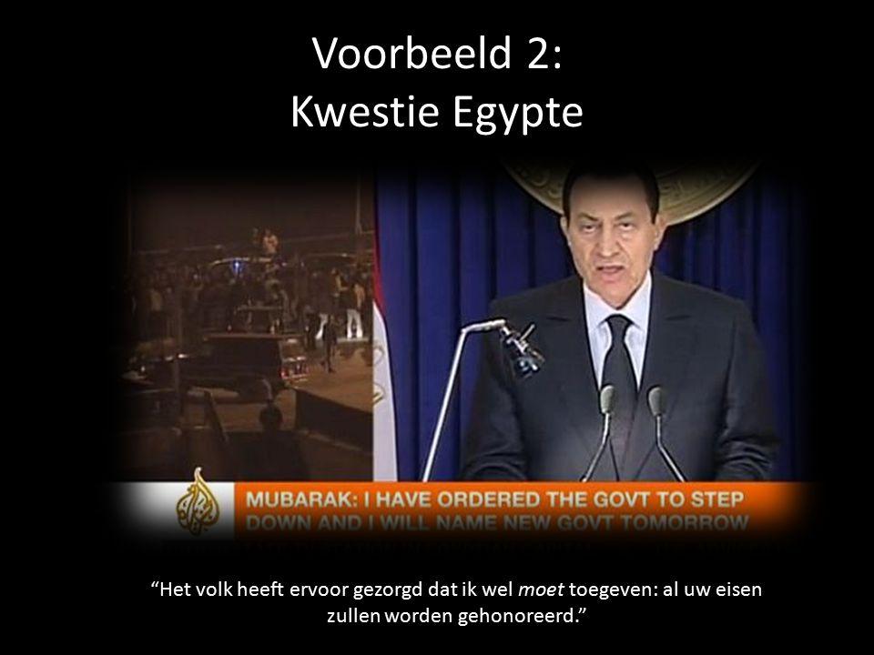 Voorbeeld 2: Kwestie Egypte