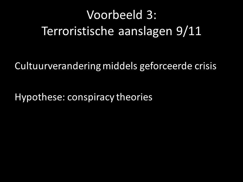 Voorbeeld 3: Terroristische aanslagen 9/11