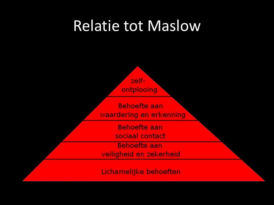 Relatie tot Maslow