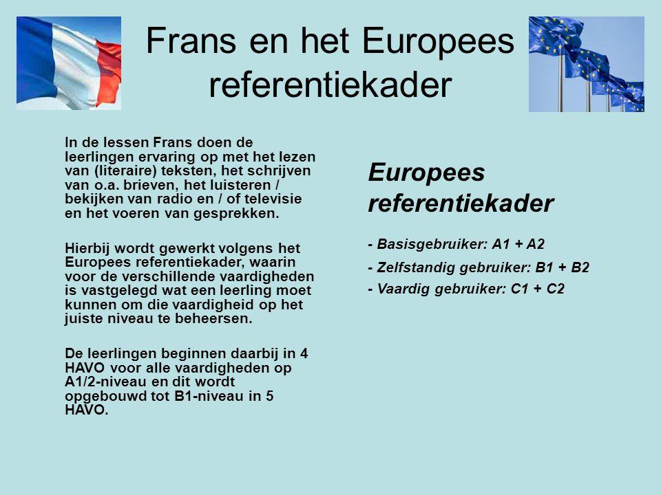 Frans en het Europees referentiekader