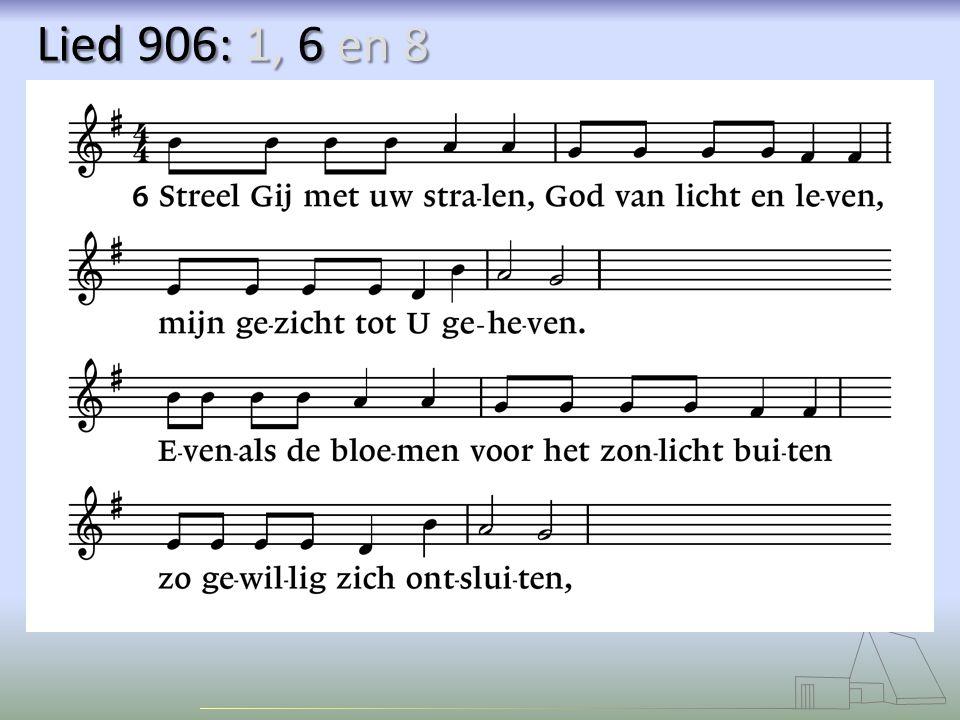 Lied 906: 1, 6 en 8