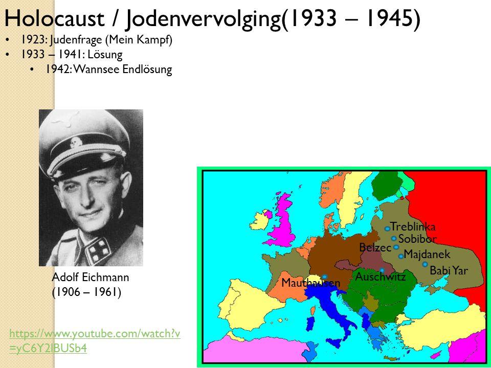 Holocaust / Jodenvervolging(1933 – 1945)