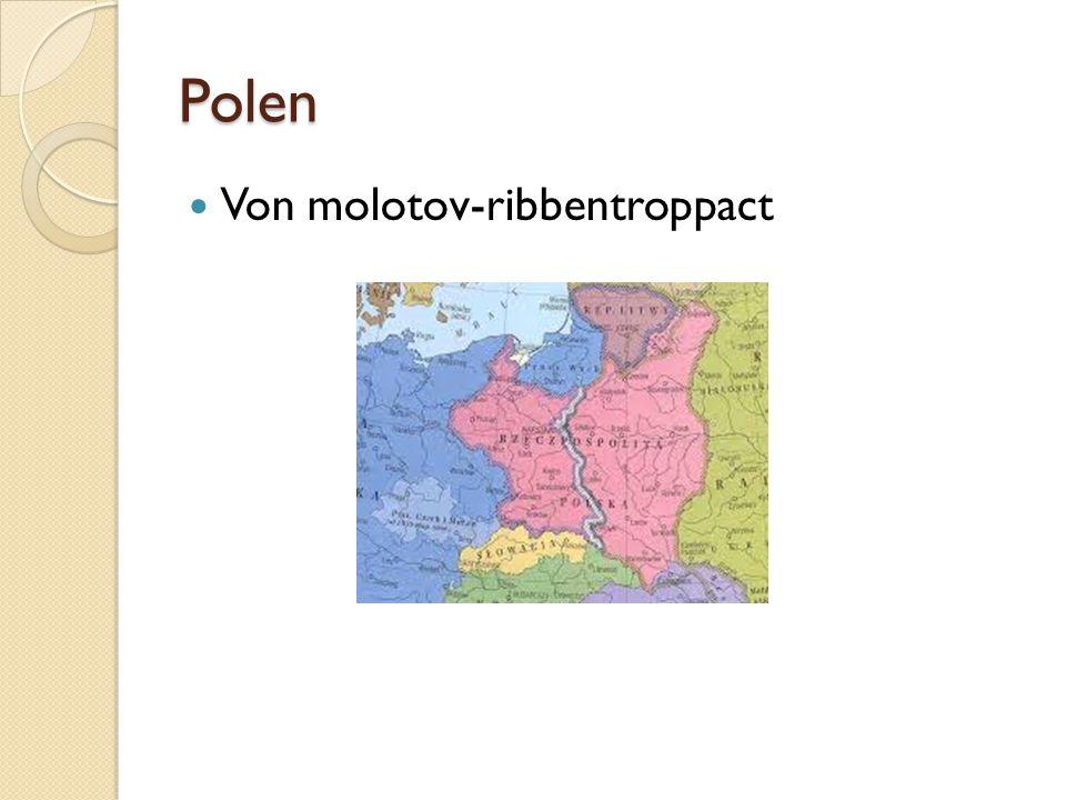 Polen Von molotov-ribbentroppact