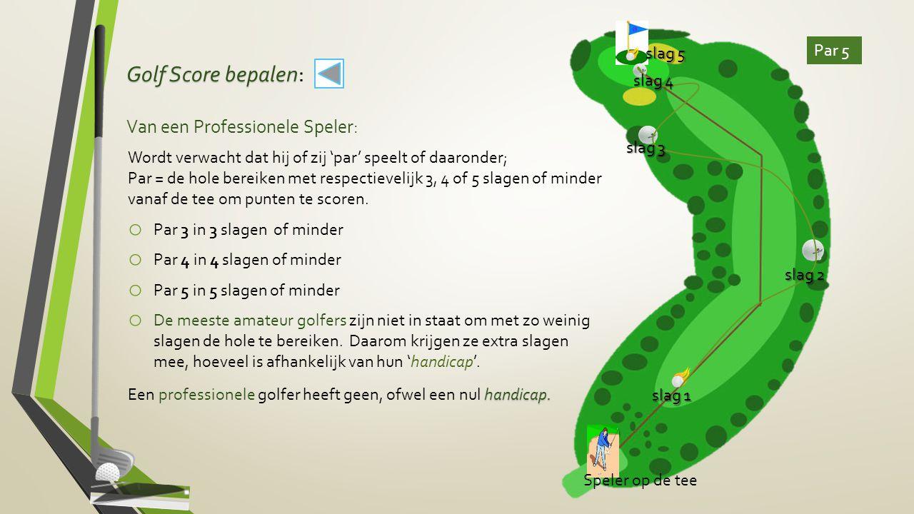 Golf Score bepalen: Van een Professionele Speler: