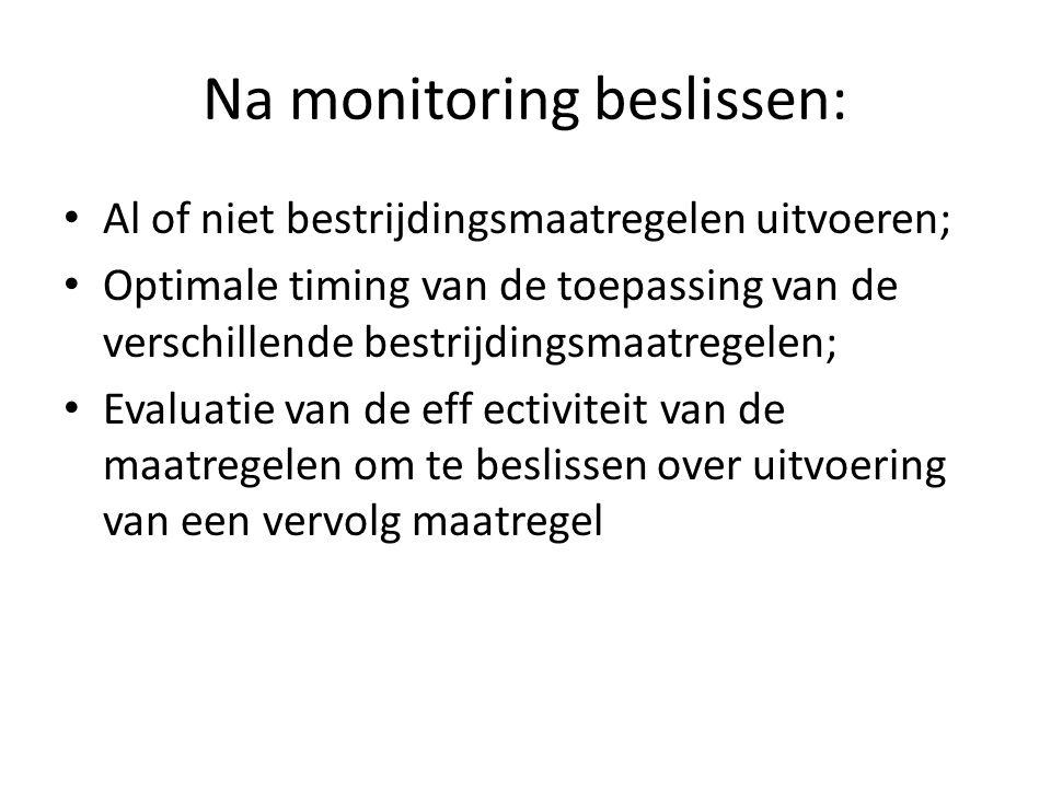 Na monitoring beslissen: