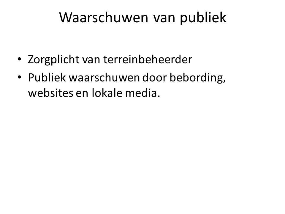 Waarschuwen van publiek