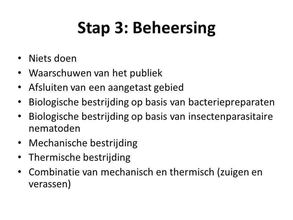 Stap 3: Beheersing Niets doen Waarschuwen van het publiek