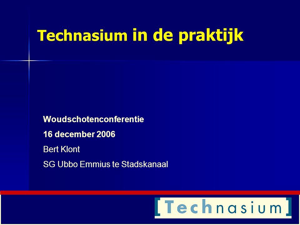 Technasium in de praktijk