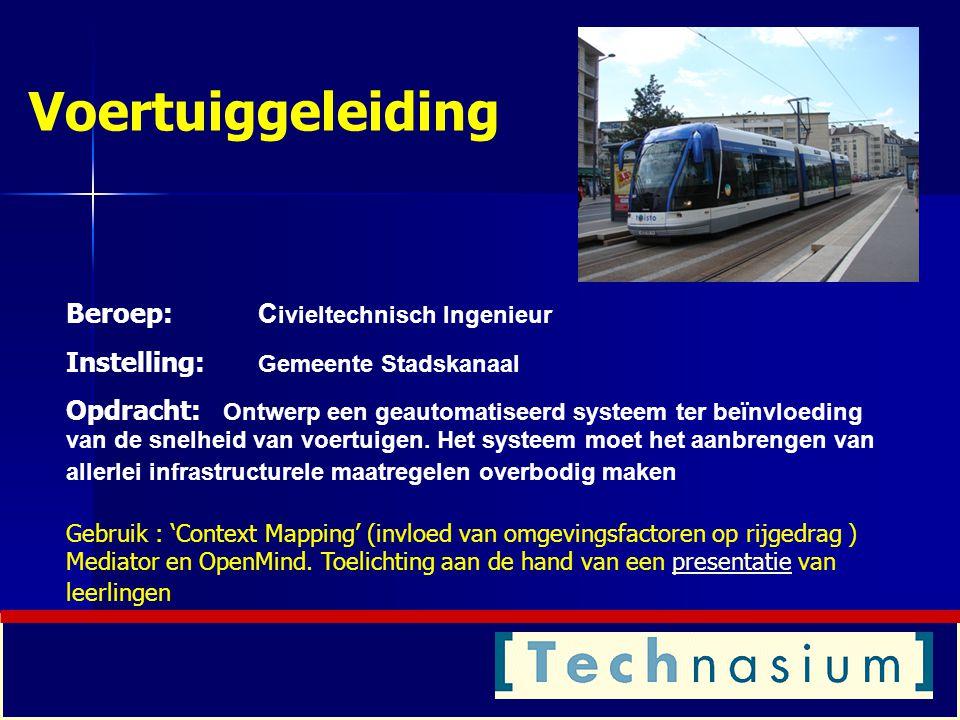 Voertuiggeleiding Beroep: Civieltechnisch Ingenieur