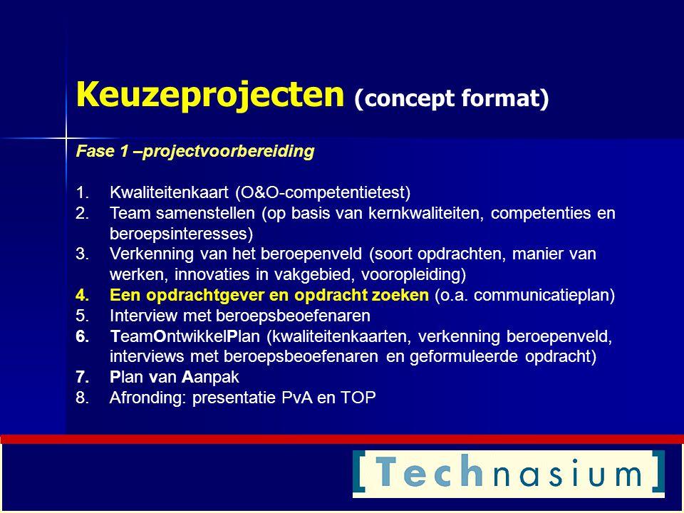Keuzeprojecten (concept format)