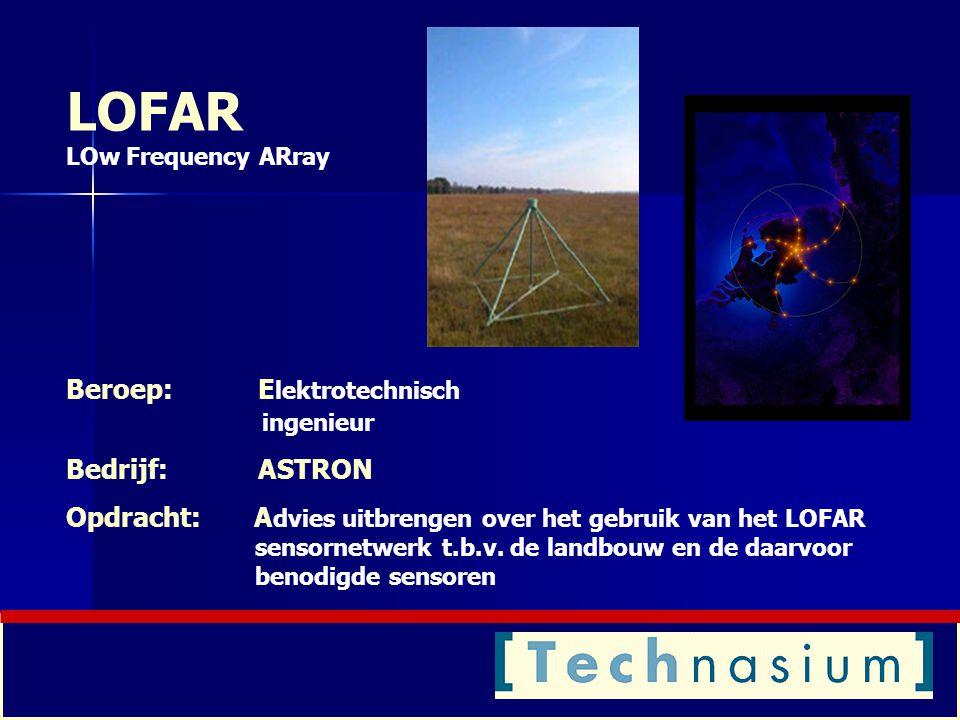 LOFAR LOw Frequency ARray