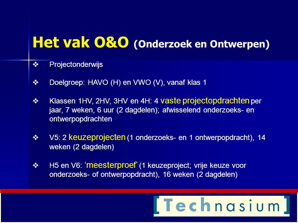Het vak O&O (Onderzoek en Ontwerpen)