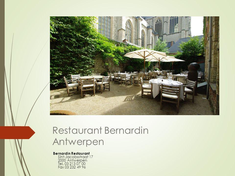 Restaurant Bernardin Antwerpen