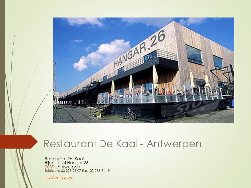 Restaurant De Kaai - Antwerpen
