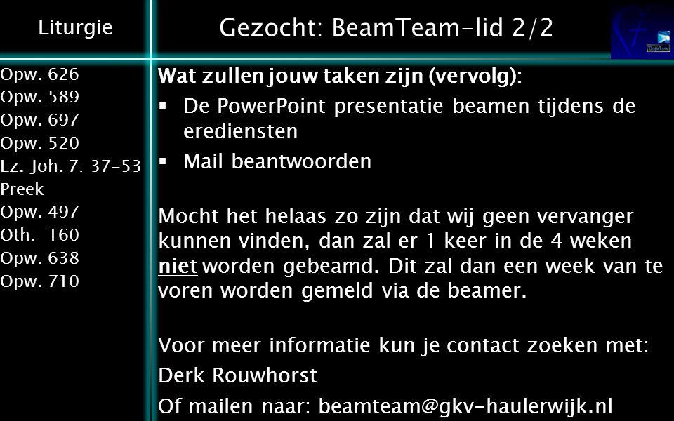Gezocht: BeamTeam-lid 2/2