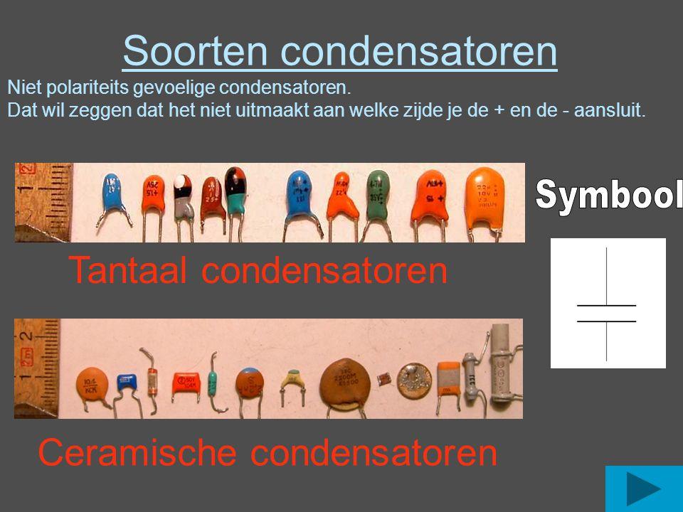 Soorten condensatoren