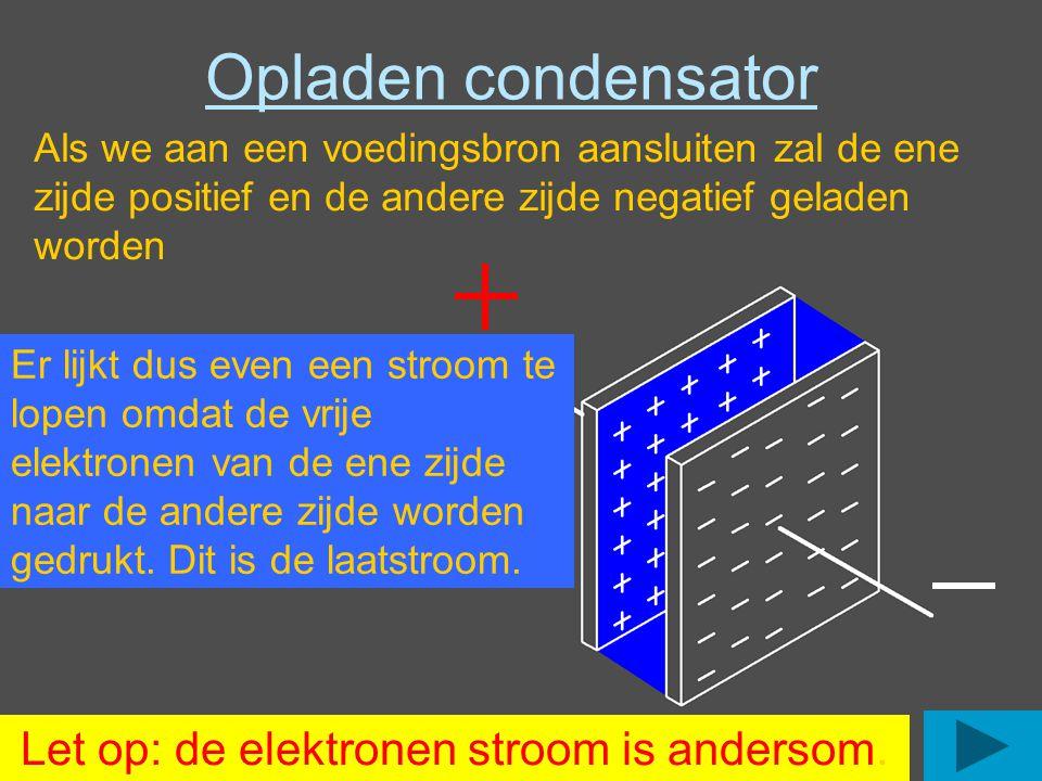Let op: de elektronen stroom is andersom.