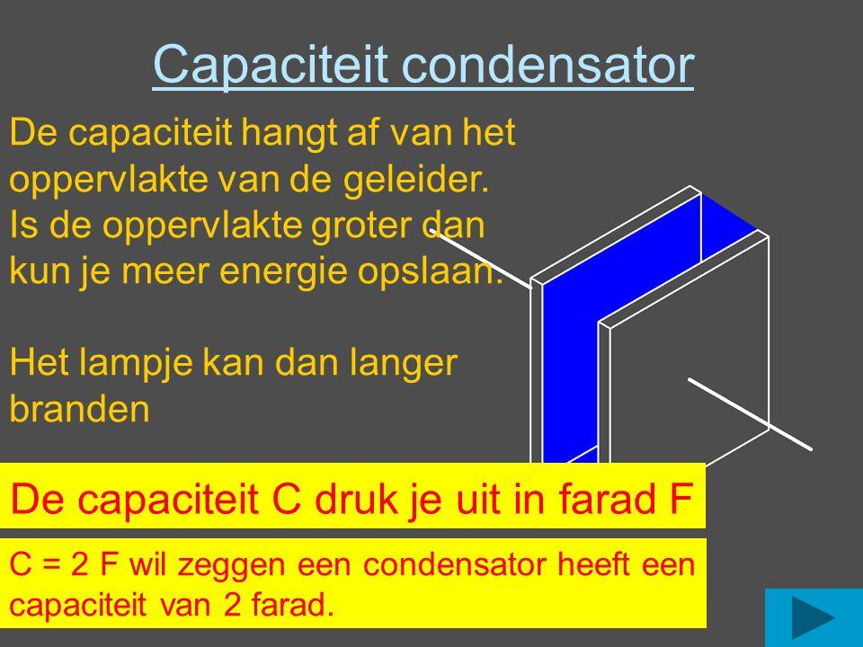 Capaciteit condensator