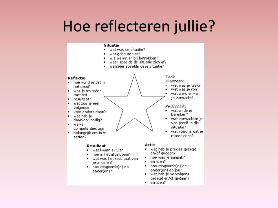 Hoe reflecteren jullie