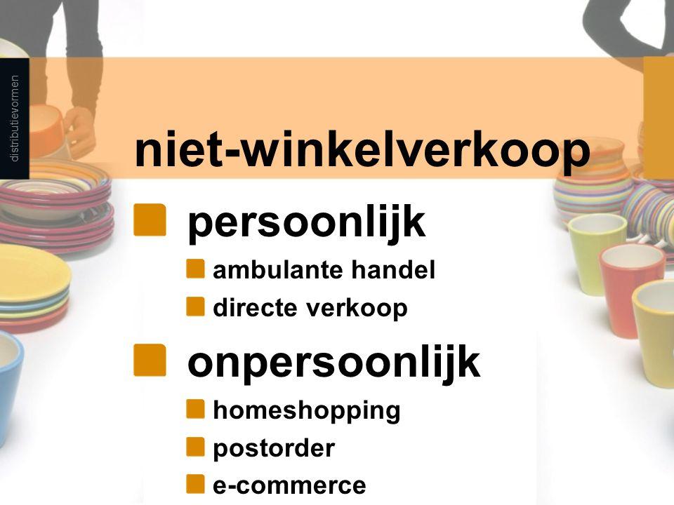 niet-winkelverkoop persoonlijk onpersoonlijk ambulante handel