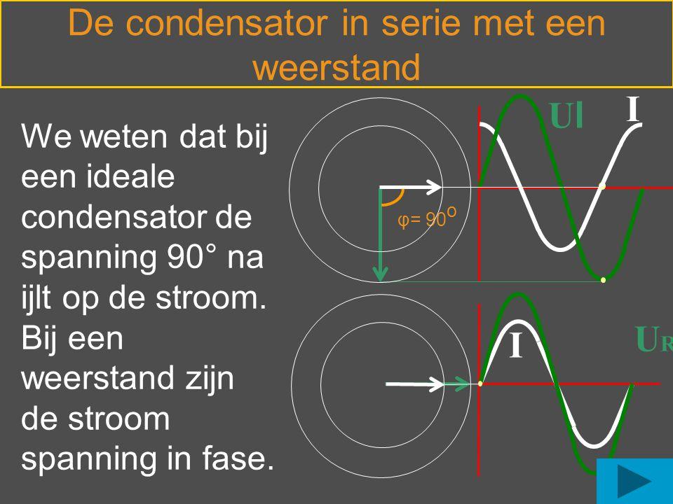 De condensator in serie met een weerstand