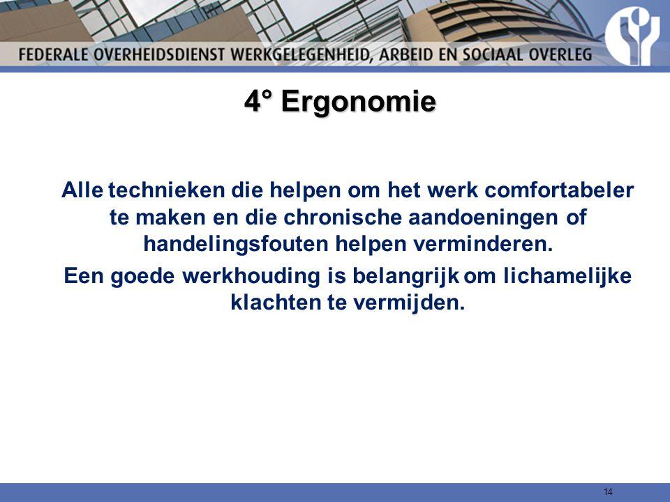 4° Ergonomie