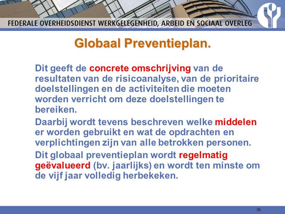 Globaal Preventieplan.