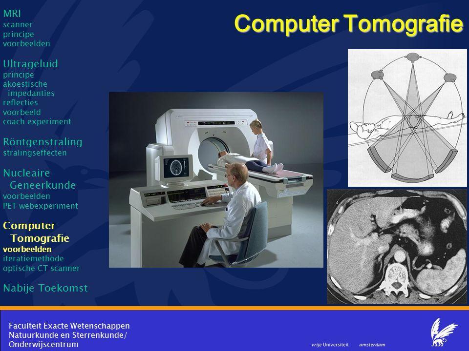 Computer Tomografie MRI Ultrageluid Röntgenstraling Nucleaire