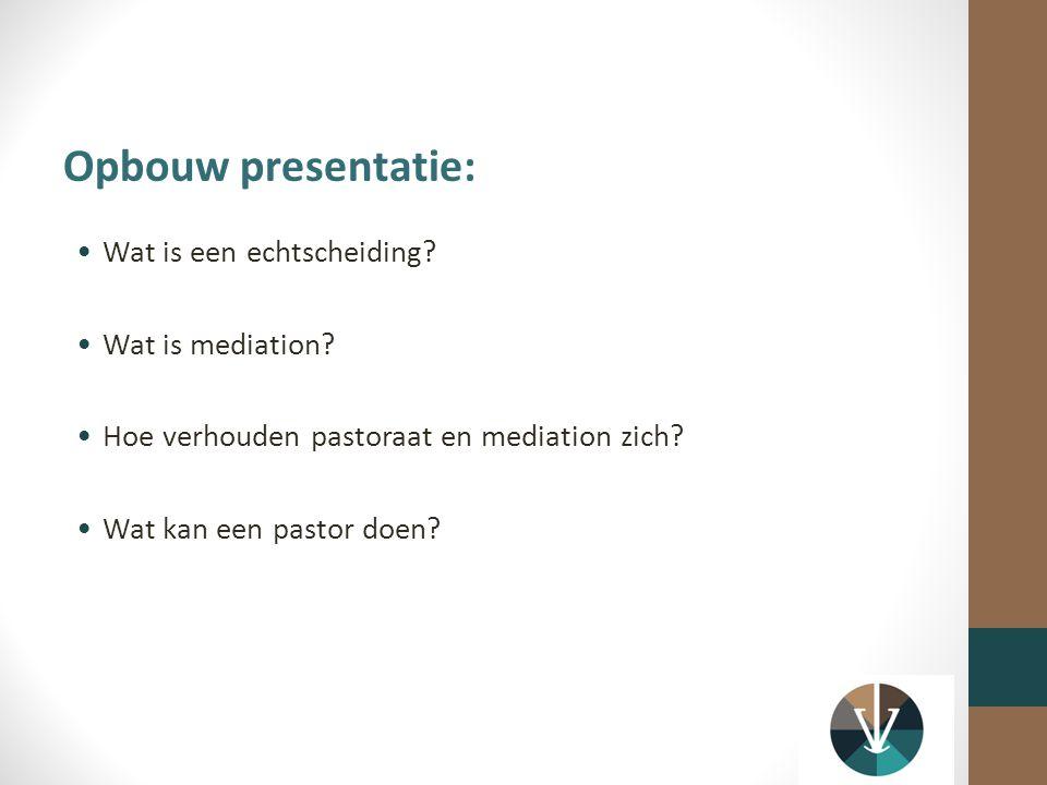 Opbouw presentatie: Wat is een echtscheiding Wat is mediation