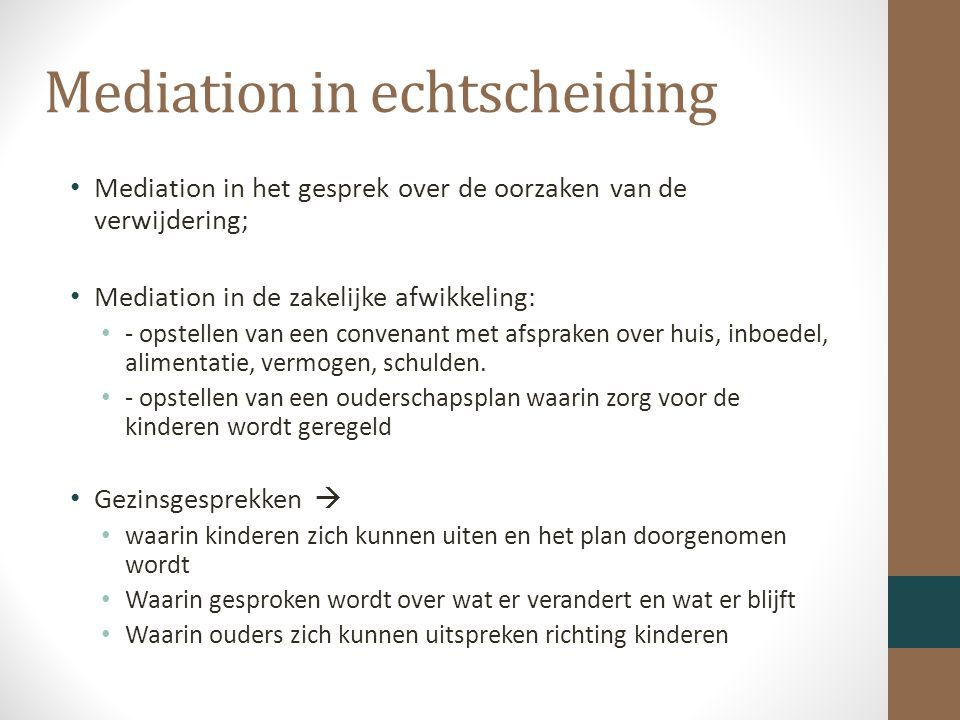 Mediation in echtscheiding