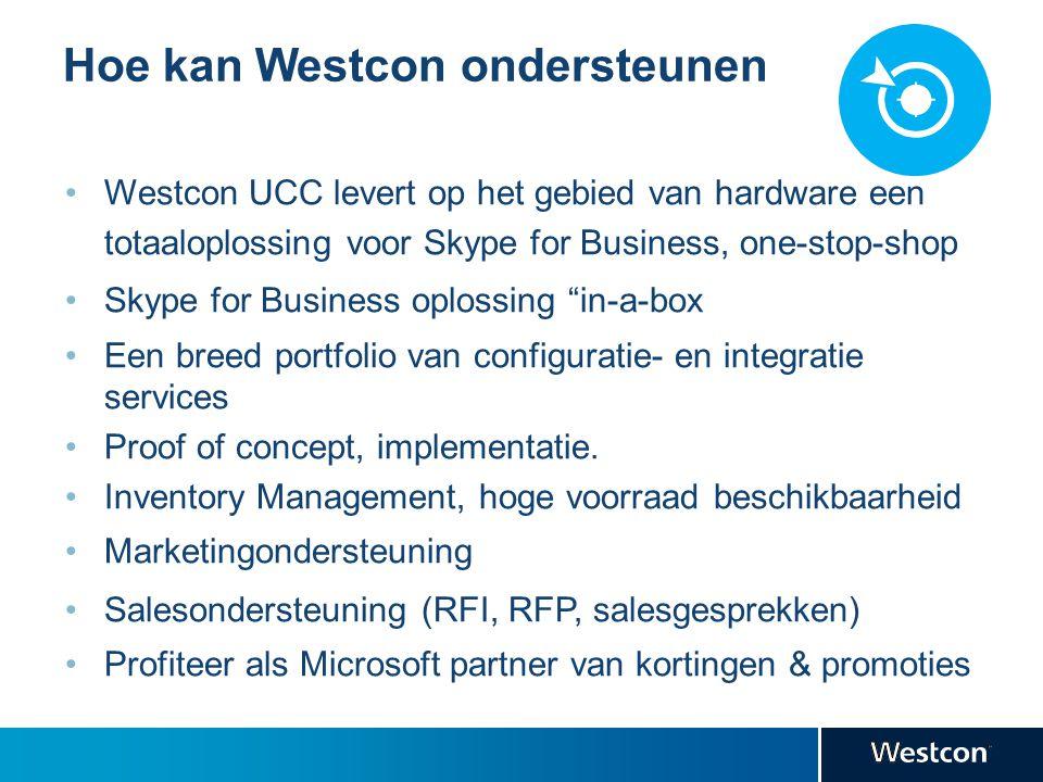 Hoe kan Westcon ondersteunen