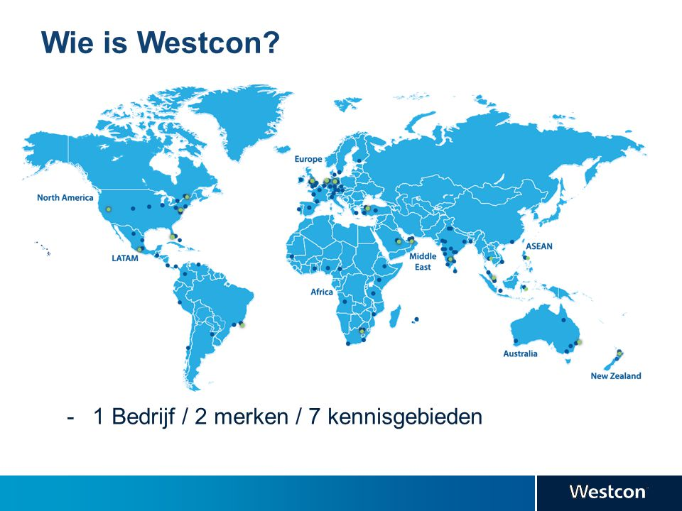 Wie is Westcon 1 Bedrijf / 2 merken / 7 kennisgebieden