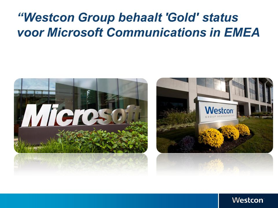 Westcon Group behaalt Gold status voor Microsoft Communications in EMEA