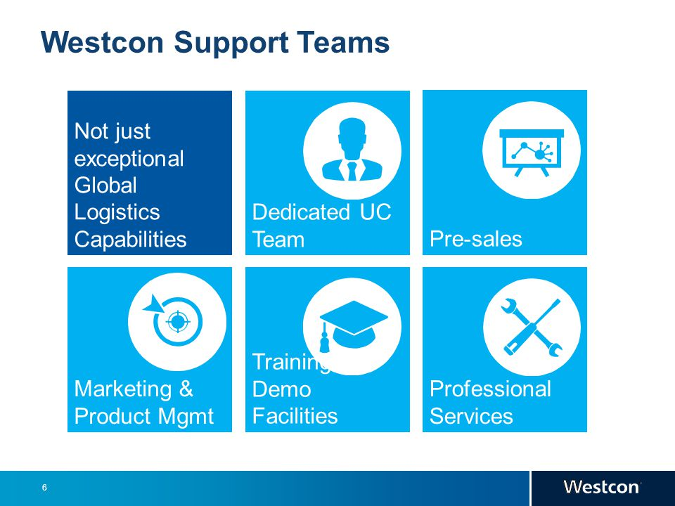 Westcon Support Teams Not just exceptional Global Logistics