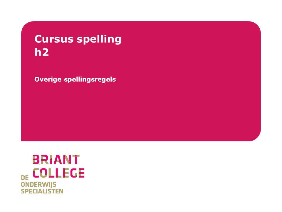 Overige spellingsregels