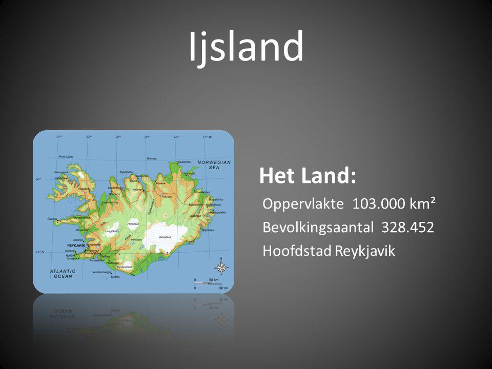 Ijsland Het Land: Oppervlakte 103.000 km² Bevolkingsaantal 328.452