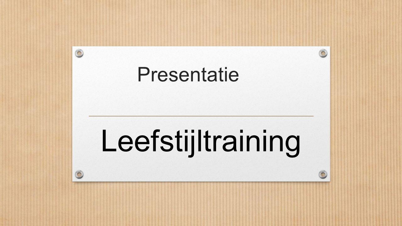Presentatie Leefstijltraining