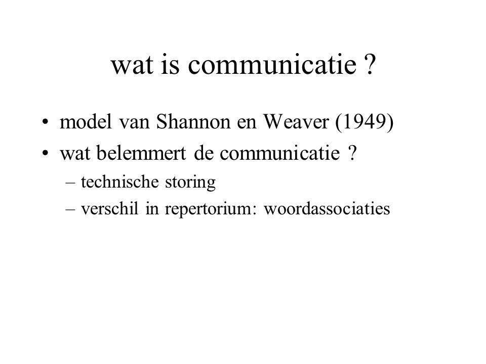 wat is communicatie model van Shannon en Weaver (1949)