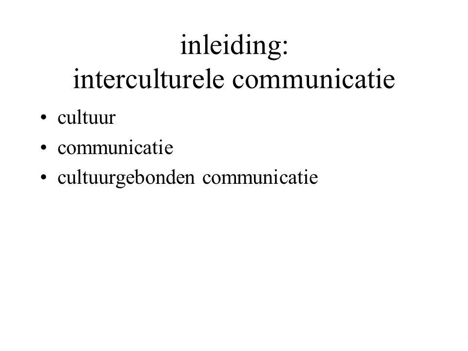 inleiding: interculturele communicatie